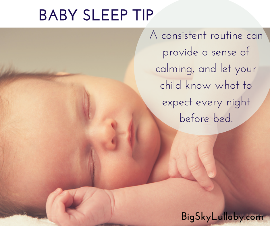 baby bedtime routine